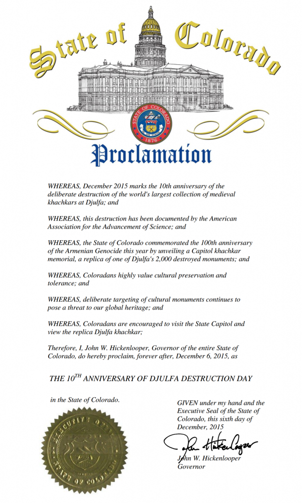Proclamation-December-6th-2015-10th-Anniversary-of-Djulfa-Destruction-Day-in-Colorado